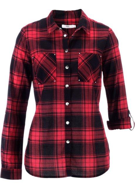 rood zwarte blouse