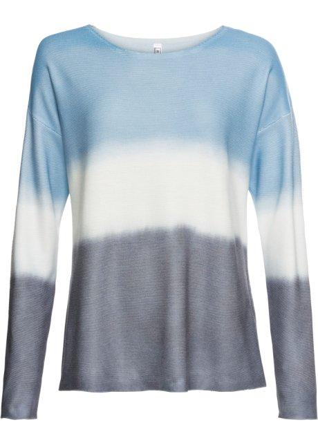 727a6f01bfcd75 Trui blauw/wit/grijs batik - Dames - bonprix.nl