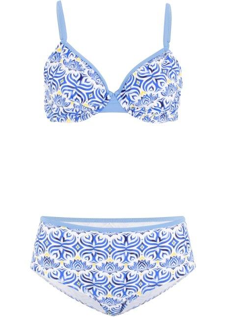 b02b7bf731425b Beugel bikini (2-dlg. set) blauw/wit/geel - Dames - bonprix.nl