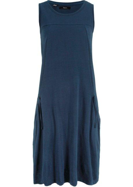 Ongebruikt Jersey jurk met zakken donkerblauw - bpc bonprix collection bestel WF-24