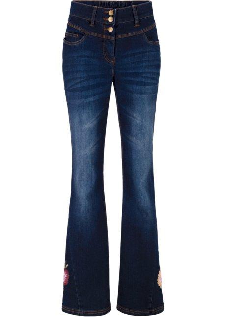 Flared jeans met print