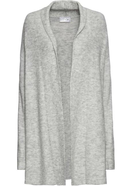 Verbazingwekkend Vest met sjaalkraag lichtgrijs gemêleerd - Dames - BODYFLIRT AQ-51