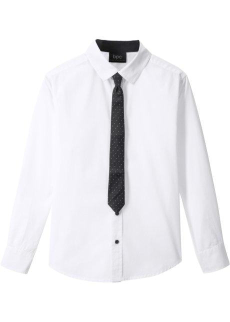 Uitgelezene Overhemd en stropdas, slim fit (2-dlg. set) wit - Kinderen - bpc SV-97