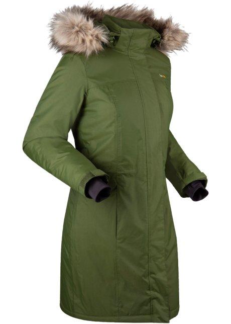 Warme outdoor jas met imitatiebont