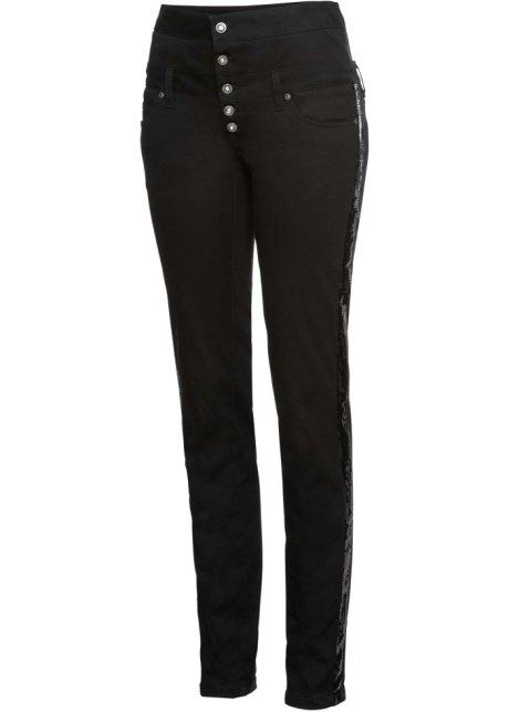Betere Stretch broek met hoge taille zwart - Dames - RAINBOW - bonprix.nl HY-72