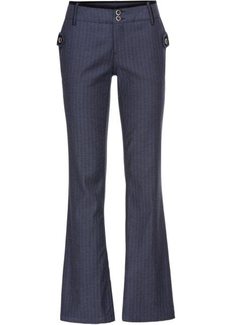 Spiksplinternieuw Pantalon met krijtstrepen, bootcut indigo gestreept - Dames QQ-41