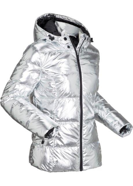 Gewatteerde outdoor jas in metallic