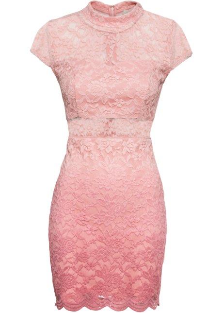 Hedendaags Kanten jurk roze - BODYFLIRT boutique koop online - bonprix.nl HQ-38