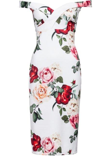 Off shoulder jurk met rozen
