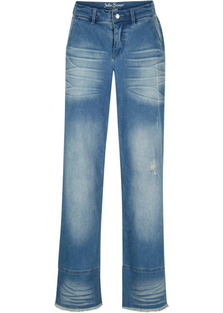 Jeans, wide lichtblauw - John Baner JEANSWEAR bestel online - bonprix.nl