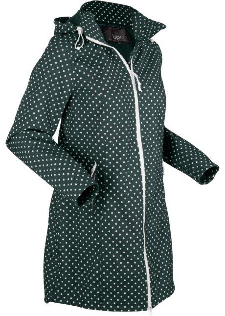 Lichte softshell jas met stretch en afneembare capuchon