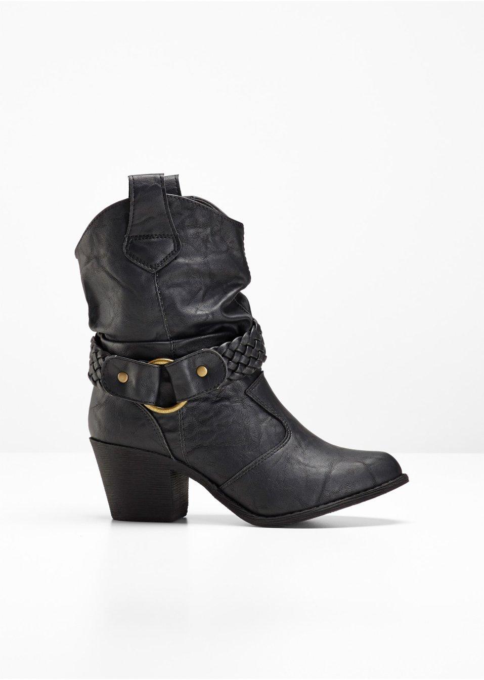 Schoenenkast Ook Voor Laarzen.Betoverend Mooi Laarzen In Moderne Western Look Van Bpc Zwart