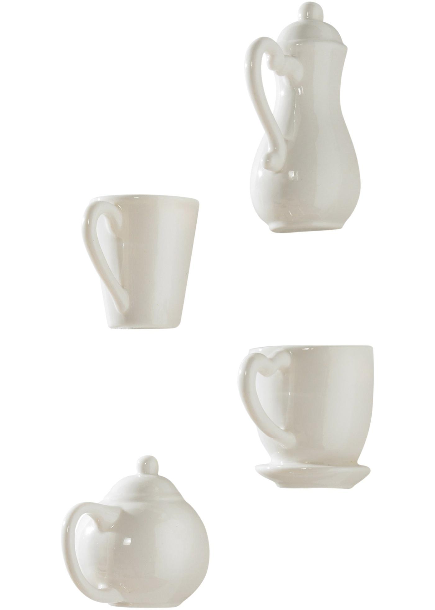 Muurdecoratie Koffie (4-dlg.)