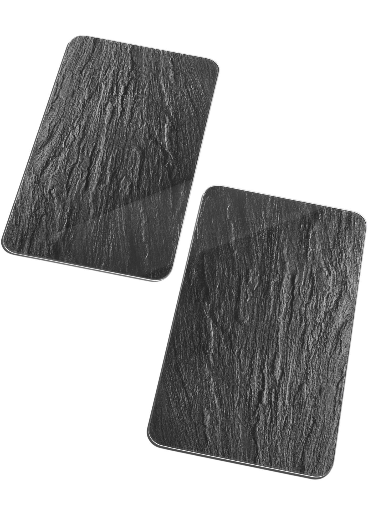 Fornuisafdekplaten Leisteen (2-dlg. set)