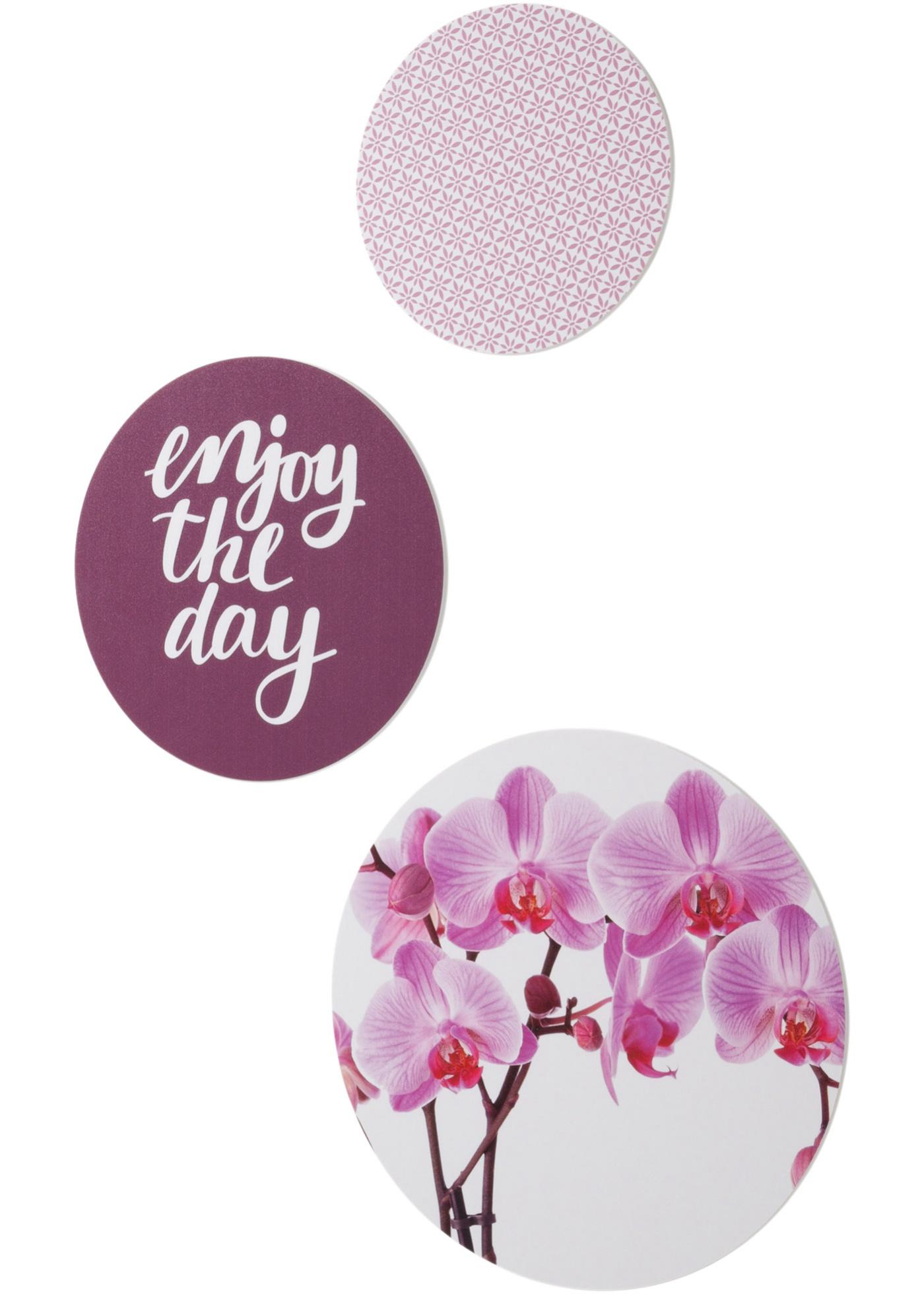 Wanddecoratie Orchidee (3-dlg. set)