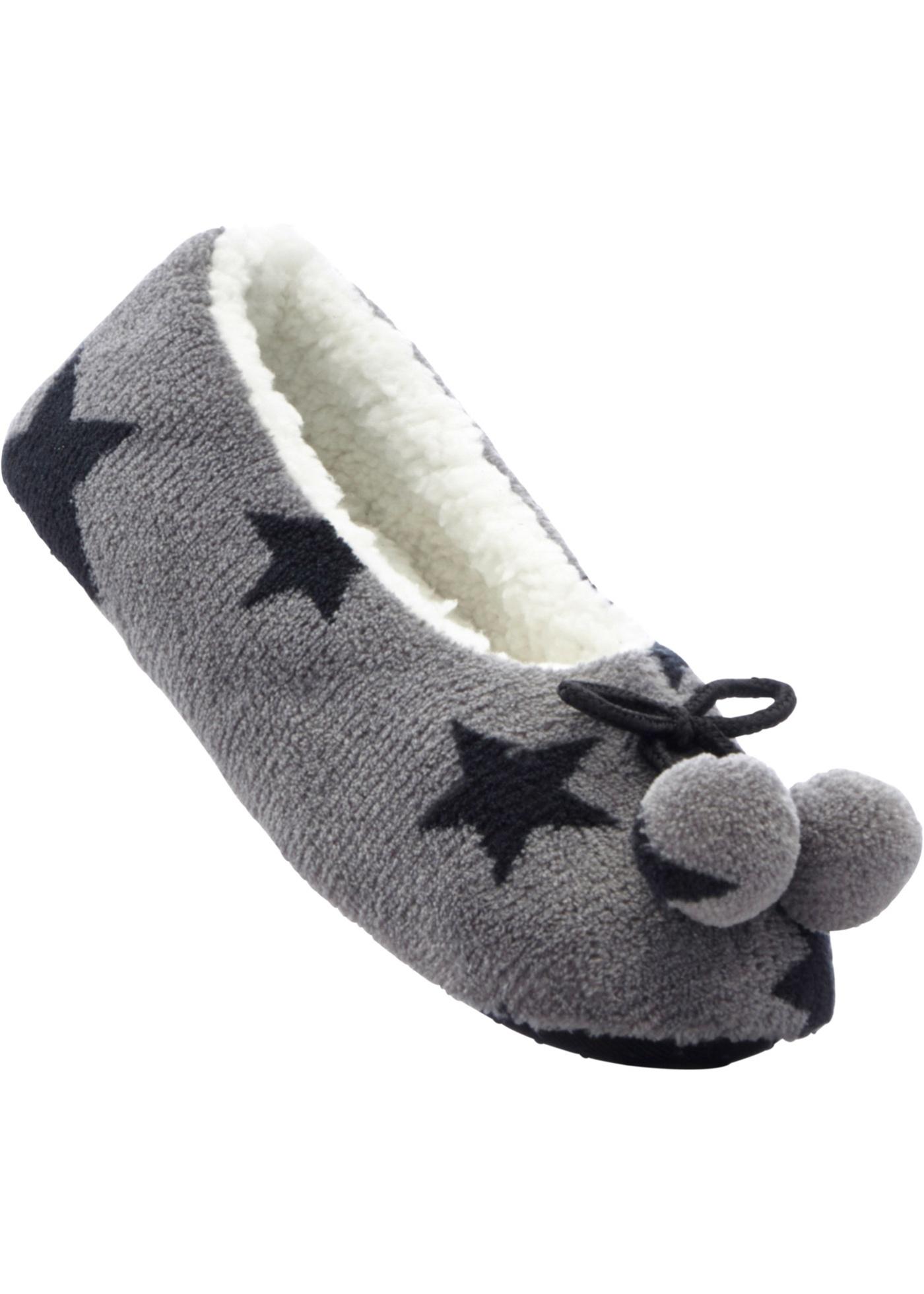 Zachte pantoffels met sterrenprint.