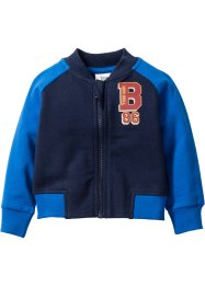 Sweatvest, bpc bonprix collection, donkerblauw/azuurblauw