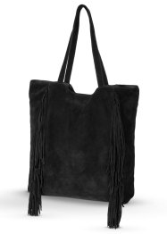Leren shopper, bpc bonprix collection, zwart
