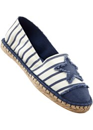 Espadrilles, bpc bonprix collection, beige/jeansblauw
