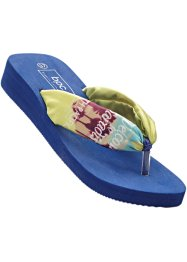 Teenslippers, bpc bonprix collection, lichtlimoen/middernachtblauw