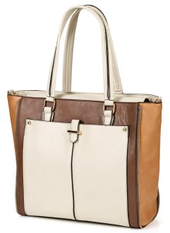 Handtas, bpc bonprix collection, taupe multicolor