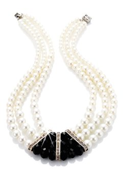 Collier «Scarlett», bpc bonprix collection, champagnekleur/zwart