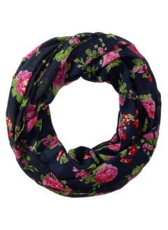 Tunnelsjaal, bpc bonprix collection, donkerblauw/pink
