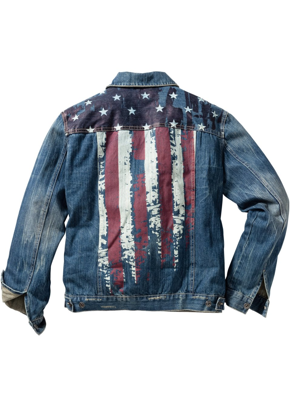 Jeansjack blue dirty used - Heren - RAINBOW