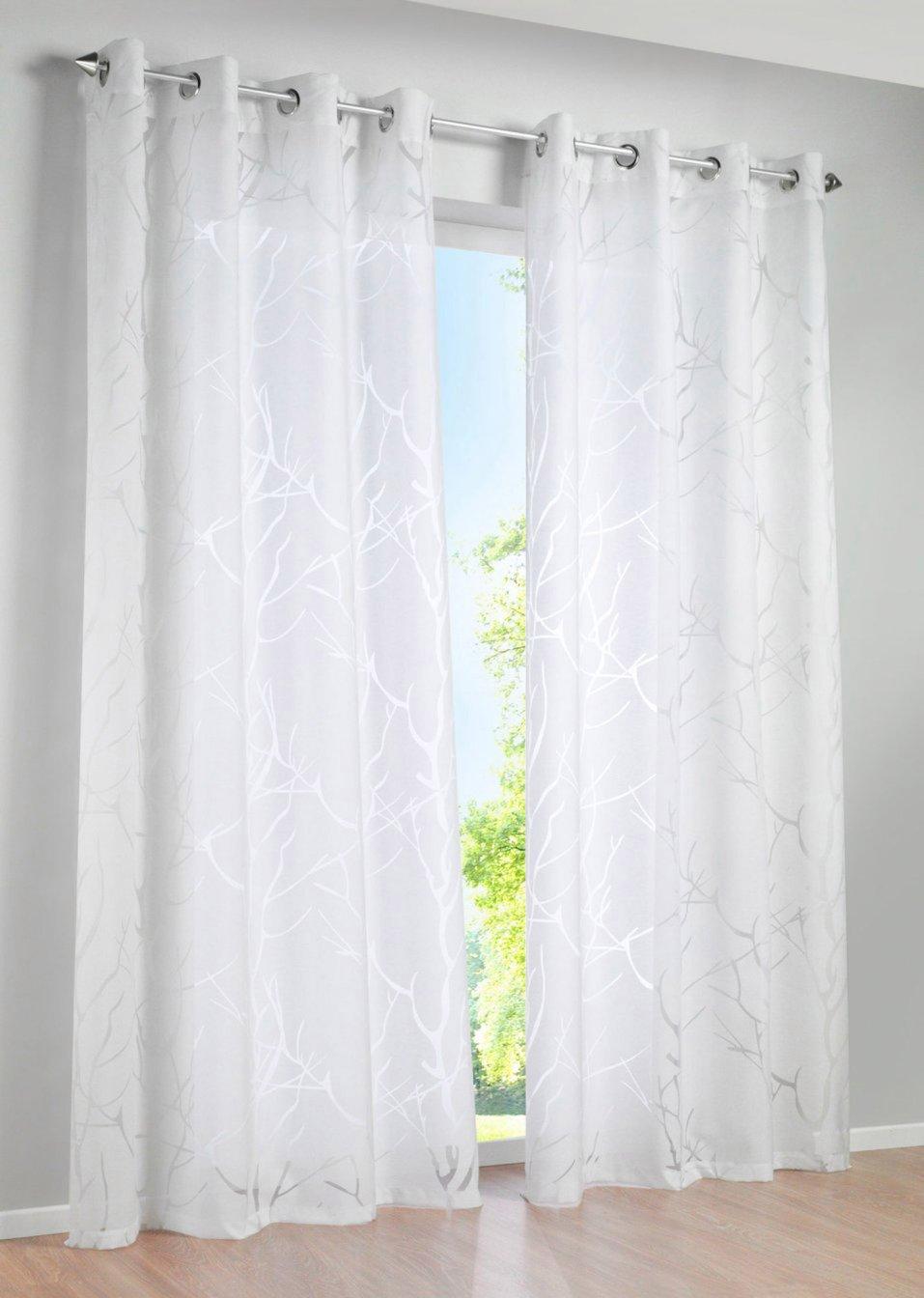 gordijn roya 1 stuk wit wonen bpc living. Black Bedroom Furniture Sets. Home Design Ideas